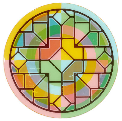 """Circle-12 Acrylic Paint and Mixed Media covered in resin. 10"""" x 10"""" x 1"""" Shelly Pinto $175"""