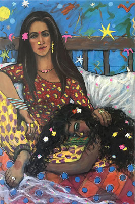 Where the two Worlds Meet by Hamama Bushra acrylic on canvas   $865