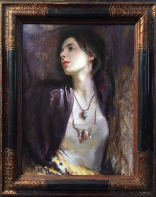 CASSIE, GLENN HARRINGTON (Oil on linen)  $6500