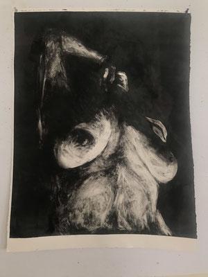 Breezeblocks by Hannah Miller     Monotype on paper    $600.00