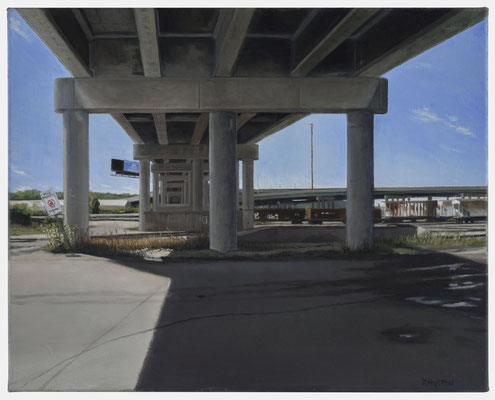 "Under the James Street Overpass by Russell Horton, Oil on canvas, 17"" x 21"", SOLD"