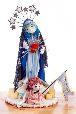 Our Lady by Sarah Rieser, mixed media soft sculpture  $3521.00