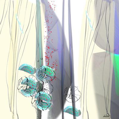 "Rondo, Pigment print on paper, mounted to museum-grade acrylic 30"" x 30"" x .5"" Chalda Maloff   $2100"
