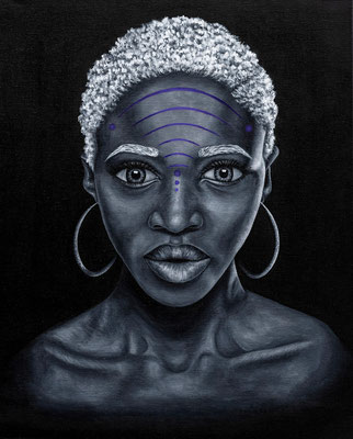 Naimah by JoMerra Watson  Acrylic and Oil on Canvas   $720.00