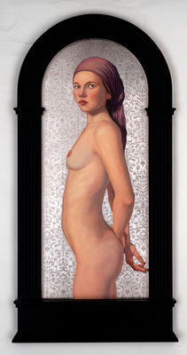 AMANDA, JOHN HUNN (Oil & palladium leaf on panel)  $8000