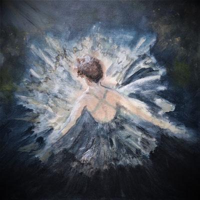 Tiny Dancer by Gloria Gale acrylic on canvas    $375