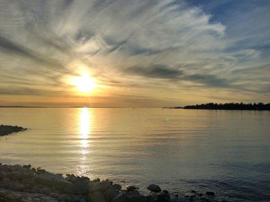 Ferienwohnungen Lindau Insel Sonnenuntergang Hintere Insel