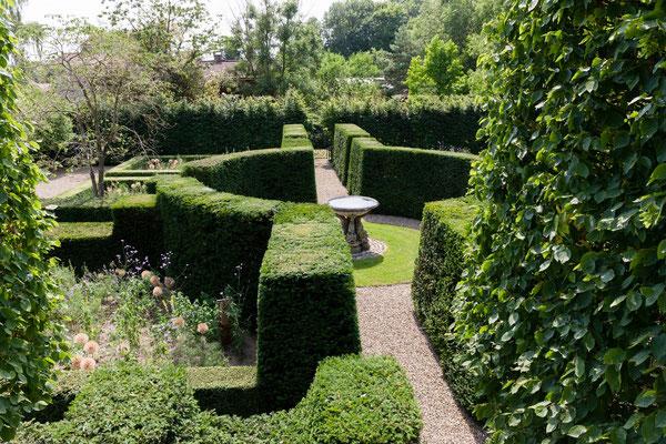 vue d'en haut, jardin Domaine le Chatel, gîtes,Beaulieu-en-Argonne