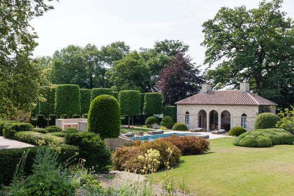 Jardin avec piscine et poolhouse, gîtes, Beaulieu-en-Argonne, Meuse, près de Verdun
