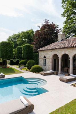 poolhouse et piscine gîtes Maison Blanche et le Koetshuis, Beaulieu-en-Argonne