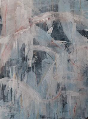 """""""Abstract BW1"""", tecnica mista su carta, cm. 30 x 40 - Palermo, collezione privata"""