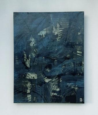 """""""Abstract Alessia"""", acrilico e cera su faesite, cm. 35 x 45 - € 320"""