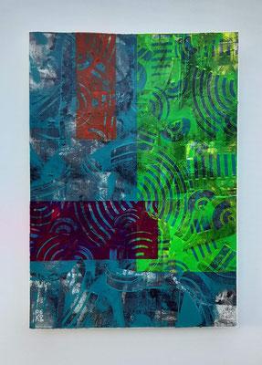 """Summer meeting"", tecnica mista su carta Canson 300 g/mq, cm. 29,7 x 42 – € 250"
