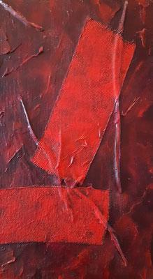 """""""Il dubbio"""" - tecnica mista su tavola, cm. 20 x 35 - € 250,00"""