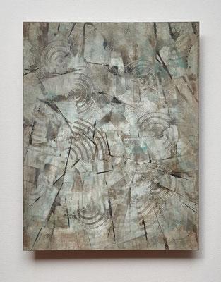 """""""Reminiscenses"""", tecnica mista su faesite, cm. 35 x 45 - € 320"""