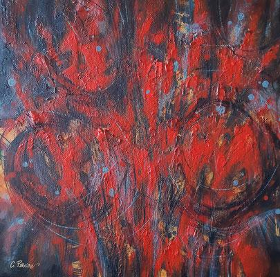 """""""Dolore"""", olio e cera fredda su tela, cm. 40 x 40 - Hildesheim (Germania), collezione privata"""