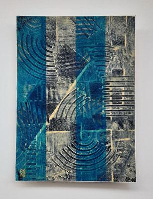 """""""Old and new"""", tecnica mista su carta Arches, cm. 26 x 36 – € 250"""