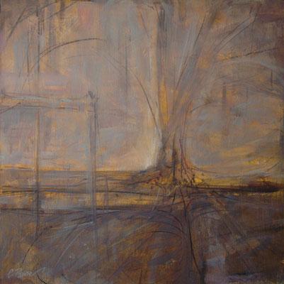 """""""Avidità"""" olio e cera fredda su tela, cm. 50 x 50- Besana Brianza (MB), collezione privata"""