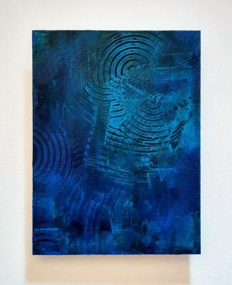 """""""La nòcc"""" (omaggio a Davide Van De Sfroos), tecnica mista su carta Hahnemühle 600 g/mq, cm. 30 x 40 - € 250"""