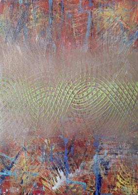 """Riuscii a controllarmi"", tecnica mista su carta Yupo, cm. 29,7 x 42 – € 250"