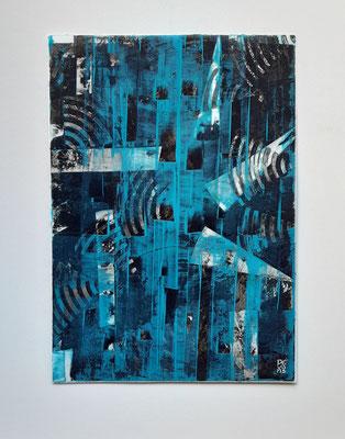 """Spirituality"", acrilico su carta Yupo 85 g/mq, cm. 29,7 x 42 – € 250"