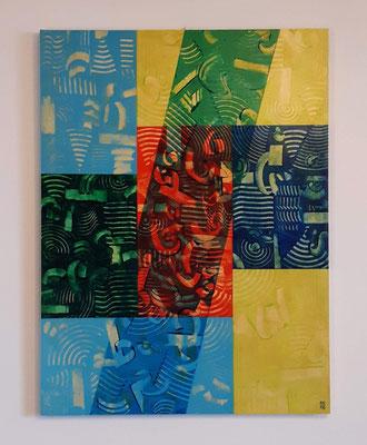 """""""The decision"""", tecnica mista su pannello, cm. 60 x 80 x 2,4 -  € 750"""
