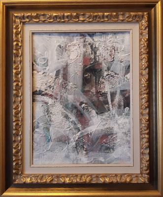 """Abstract"", tecnica mista su carta, cm. 30 x 40 - € 250"