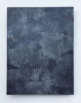 """""""Stopping thoughts"""", acrilico e cera su faesite, cm. 35 x 45 - € 320"""