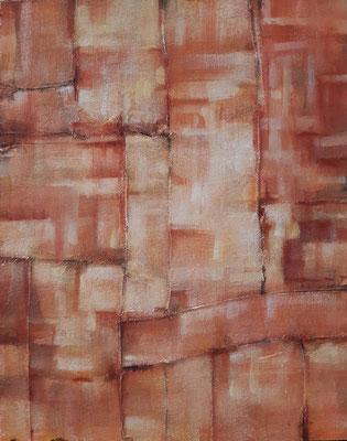 """""""Warm abstract"""" – tecnica mista su tavola, cm. 40 x 50 - La  LouvIère (Belgio , collezione privata"""