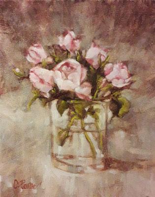 """""""Piccole rose"""" - olio su tela, cm. 20 x 25 - € 160,00"""