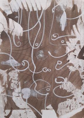 """""""Monochrome"""", acrilico su carta, cm. 21 x 29,7 - € 30"""
