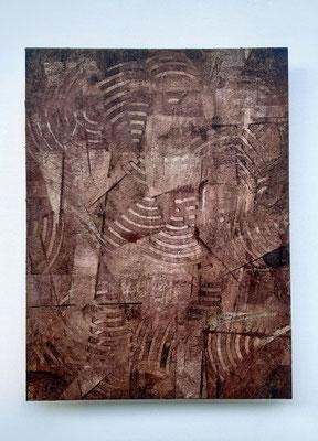 """Interior constructions"", tecnica mista su carta Hahnemühle 600 g/mq, cm. 30 x 40 - € 250"