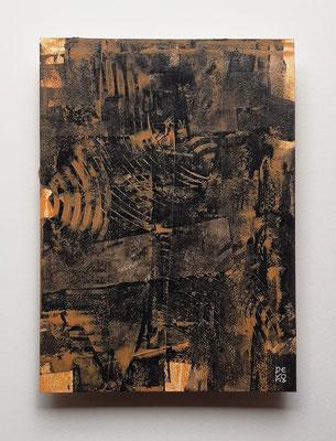 """Quarrel"", acrilico su carta Arches, cm. 26 x 36 – € 250"