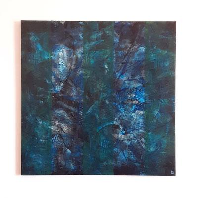 """""""The Sea inside"""", tecnica mista su tela, cm. 80 x 80 x 1,8 - € 1100"""