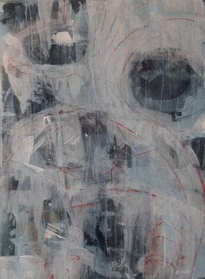 """""""Abstract BW2"""", tecnica mista su carta, cm. 30 x 40 - Villarbasse (TO), collezione privata"""