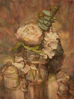 """""""Piccoli fiori rubati"""" - olio su tela, cm. 30 x 40 – € 200,00"""