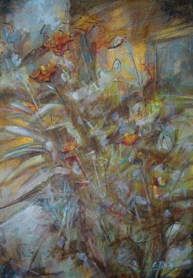 """""""Vegetalia 2"""", olio e cera fredda su tela, cm. 35 x 50- Roma, collezione privata"""