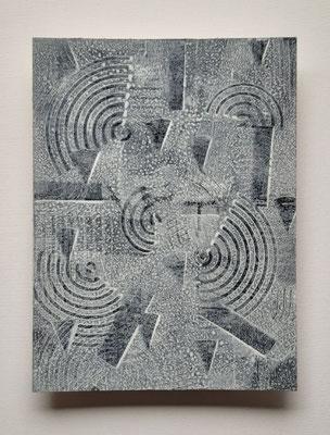 """""""White universe"""", tecnica mista su carta Hahnemühle 600 g/mq, cm. 30 x 40 - € 250"""