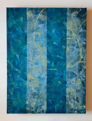 """Silent games"", tecnica mista su tela, cm. 60 x 80 x 2,8 - € 750"