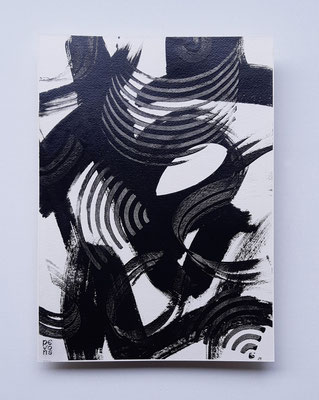 """Enthusiasm"", tecnica mista su carta Arches, cm. 26 x 36 – € 250"