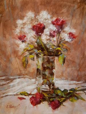 """Le rose di Silvio"" - olio su tela, cm. 30 x 40 – € 200,00"