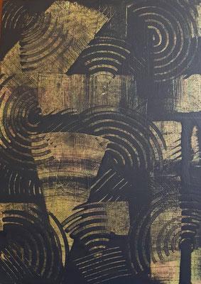 """""""Madrugada"""", acrilico su legno, cm. 29,7 x 42 x 0,4 – € 320"""