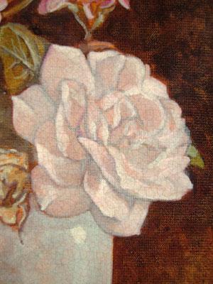 """""""Piccoli fiori"""" (particolare) - acrilico su cartone telato cm. 18 x 13 - Cernusco sul Naviglio, collezione privata"""