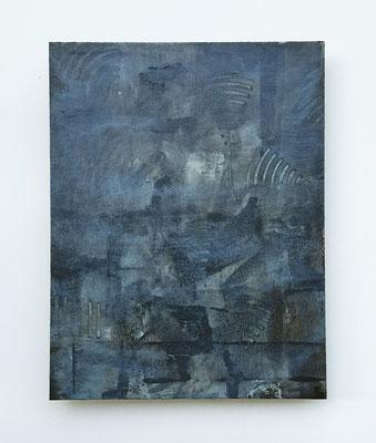 """""""Looking for the light"""", acrilico e cera su faesite, cm. 35 x 45 - € 320"""