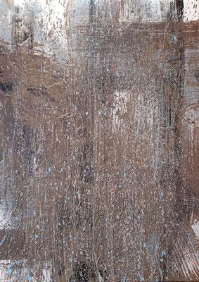 """L'appuntamento"", tecnica mista su tela, cm. 50 x 70 – € 600"