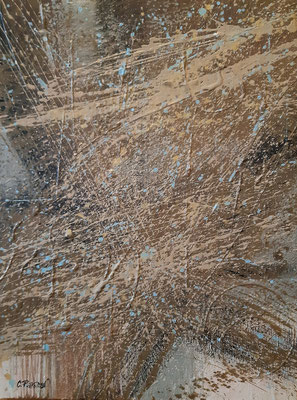 """""""Schiaffo morale"""", tecnica mista su tela, cm. 30 x 40 – € 80"""
