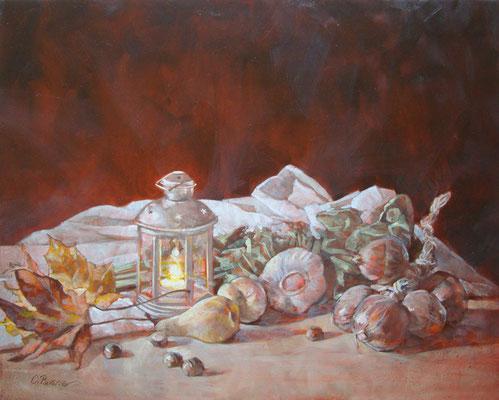 """""""Natura morta d'autunno"""" - olio su tela, cm. 40 x 50 - Cernusco sul Naviglio, collezione privata"""