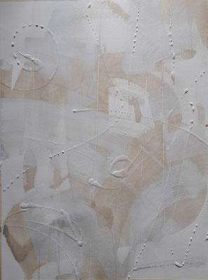 """""""Dream in white 2"""", tecnica mista su carta, cm. 40 x 40 - € 60"""