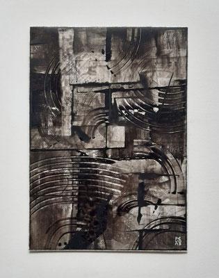"""""""Nocturnal thoughts"""", acrilico su carta Yupo 85 g/mq, cm. 29,7 x 42 – € 250"""