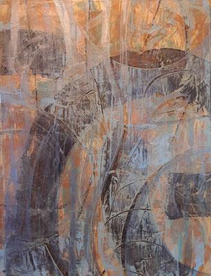 """""""Abstract 24"""" – tecnica mista su carta, cm. 30 x 40 - Moruzzo (UD), collezione privata"""